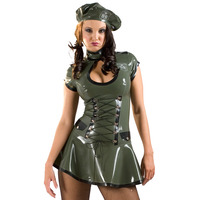 Latex Rubber Hnr Army Dress & Beret