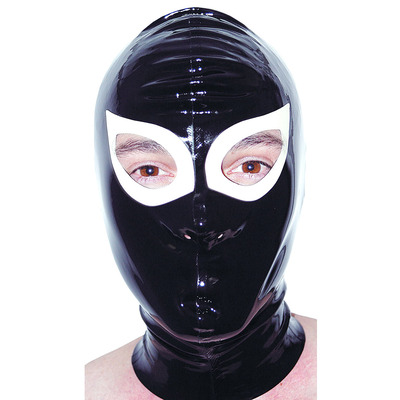 Latex Rubber Hood with Eyes and Nose Holes