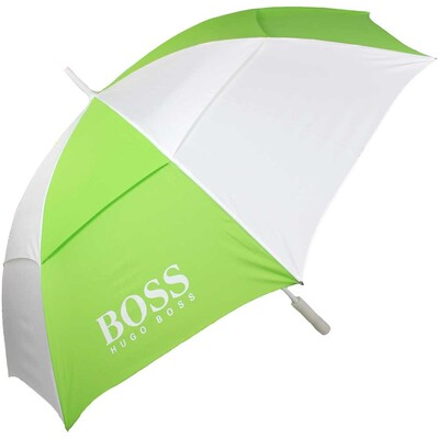 Hugo Boss Pro Stripes Golf Umbrella Green White