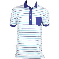 RLX Multi Stripe LT Airflow Golf Shirt Pure White AW15