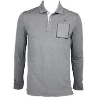 Puma LUX LS Golf Shirt Dark Grey Heather AW15
