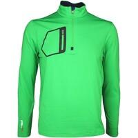 RLX Golf Pullover - Mock Neck Zip Preppy Green SS16
