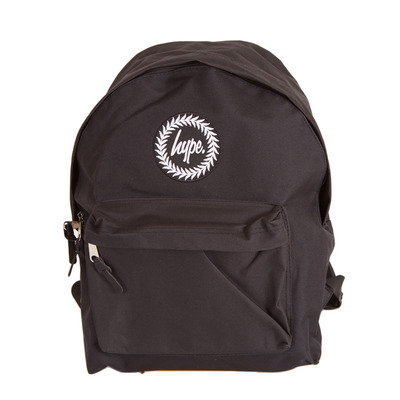 Hype Badge Backpack Rucksack Bag - Black