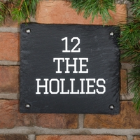 Rustic Slate House Sign - 3 line 23 x 20.5cm