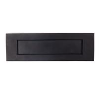 Black Iron Letterplate Letterbox