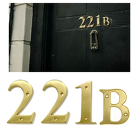 221B Sherlock Holmes Address in 10cm Brass Numbers