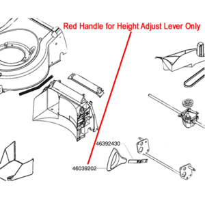 Al Ko Red Handle Height Adjust Lever Ak46039202