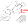 Click to view product details and reviews for Mountfield Grass Box Top With Full Indicator 381486014 0.