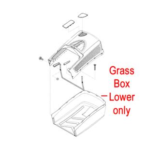 Al Ko Lawnmower Grass Box Lower 46038275