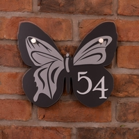 Acrylic Butterfly Shaped House Number (1 - 99)