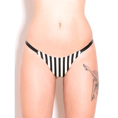 Latex Pinstripe Polly Thong