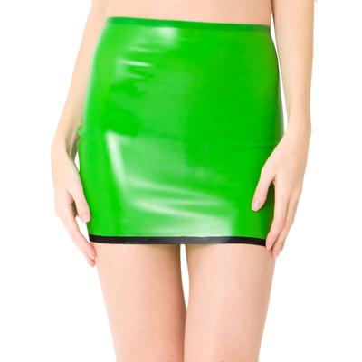 True Beauty Latex Mini Skirt