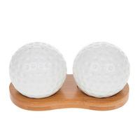 Joe Davies White Bamboo Golf Ball Cruet