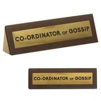 Wooden Desk Sign - Gossip