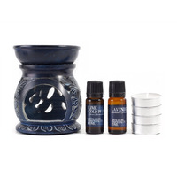 Lavender and Lime Oil Burner Gift Set