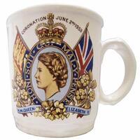 Vintage 1953 Coronation Memento Mug