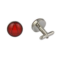 Red Christmas Tree Cufflinks