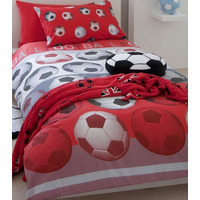 Catherine Lansfield Kids, Red Football Single Duvet Sets