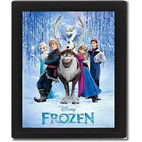 Disney Frozen Framed 3D Picture, 26 x 20 cm