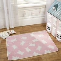 Pink Teddy Bear Lightweight, Toddlers Rug 100 x 70 cm