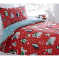 Frosty Friends, Childrens Christmas Bedding - Single