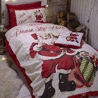 Catherine Lansfield Retro Santa King Duvet Set