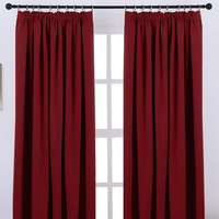 Manhattan Thermal Blackout Curtains 72s - Red