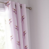 Catherine Lansfield Ballerina Eyelet Curtains 66 x 72-Inch