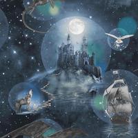 Magical Kingdom Wallpaper - Blue