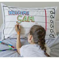 Doodle Reversible Pillowcase - 100% Cotton