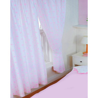 Pink Spots, Polka Dot Curtains 72s