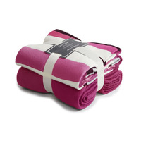 Red Stripes Fleece Blanket - Pack of Two