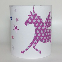 Unicorns and Stars Medium Fabric Light Shade