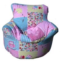 Owl Patchwork Bean Chair