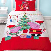 Peppa Pig, Christmas Single Bedding - Noel