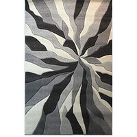 Spectrum Splinted Hand Carved Rug, Grey - 80 x 150 cm