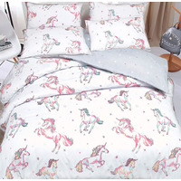 Pastel Unicorns Single Bedding