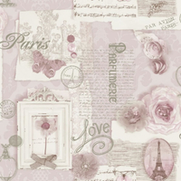 Felicity, Paris Wallpaper - Pink