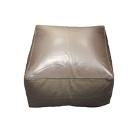 Brown, Faux Leather Bean Slab / Cube