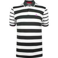 G/FORE Golf Shirt - Skull Stripe Polo - Black Ink SS19