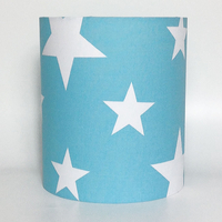 White Star, Blue Medium Fabric Light Shade