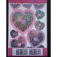 Glitz Holographic Hearts, Peel and Stick Quicksticks - 60