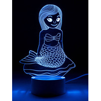 3D Optical Illusion Night Light - Mermaid