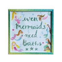Mermaid World Framed Print, 40 x 40 cm