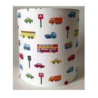 Transport and Cars Medium Fabric Light Shade