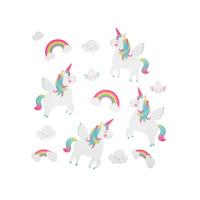 Rainbow Unicorn Wall Stickers