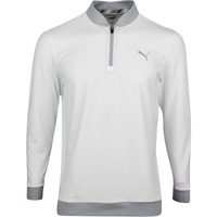 PUMA Golf Pullover - Rotation Stealth QZ - Bright White SS20