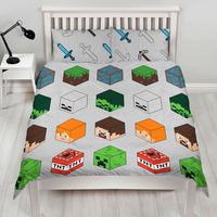 Minecraft Double Duvet Set - Pixels