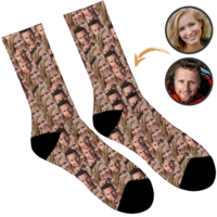 In Your Face - Couples Personalised Socks
