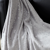 Grey star Fleece Blanket